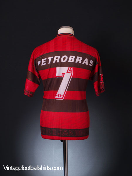 1995-96 Flamengo Centenary Home Shirt #7 L