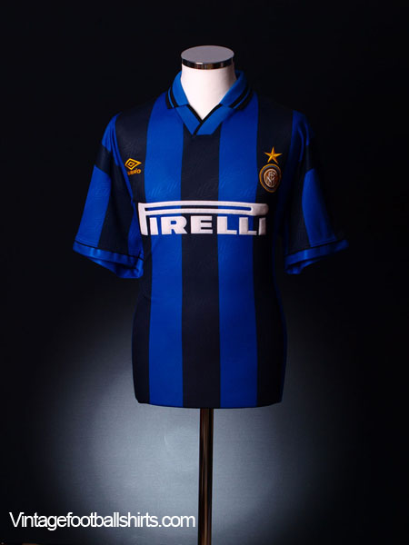 1995-96 Inter Milan Home Shirt L