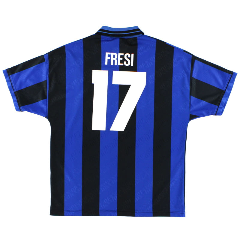 1995-96 Inter Milan Home Shirt Fresi #17 L