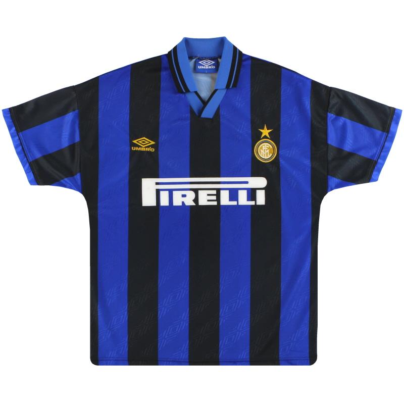 1995-96 Inter Milan Umbro Home Shirt L