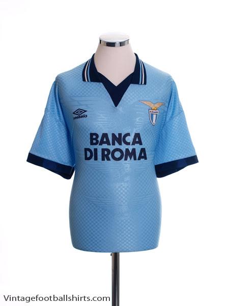 1995-96 Lazio Home Shirt L