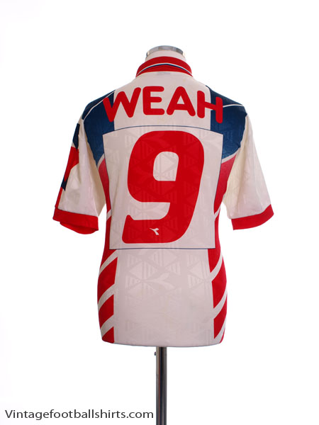 1995-96 Liberia Away Shirt Weah #9 XL