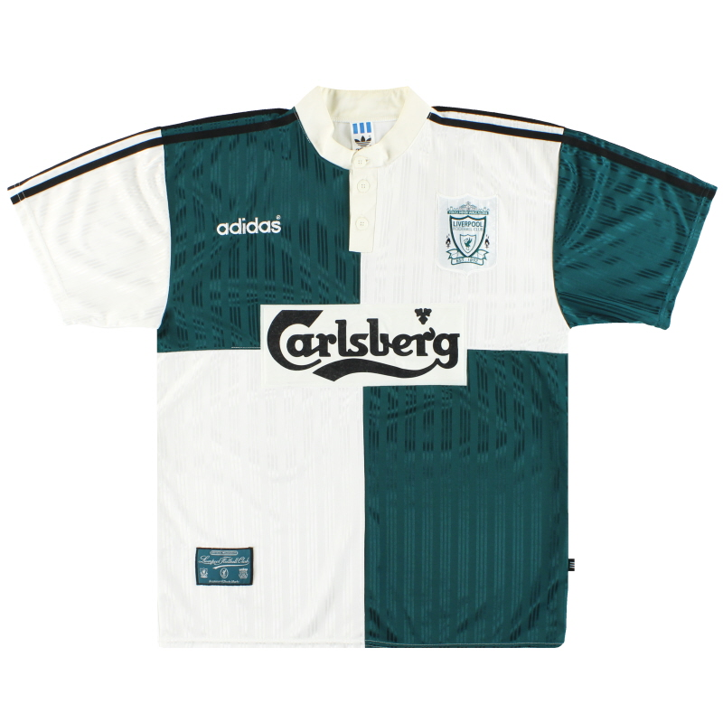 1995-96 Liverpool adidas Away Shirt L - 093767
