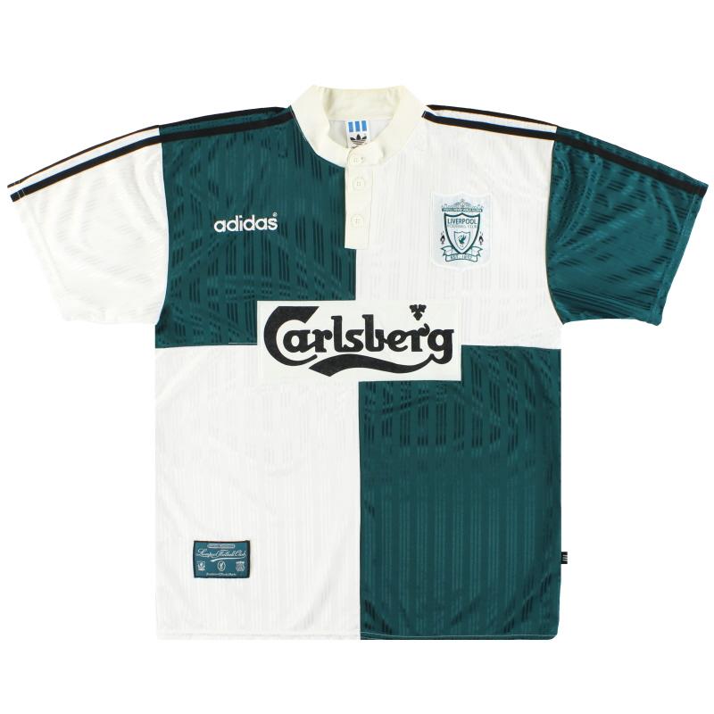 1995-96 Liverpool adidas Away Shirt L - 093767
