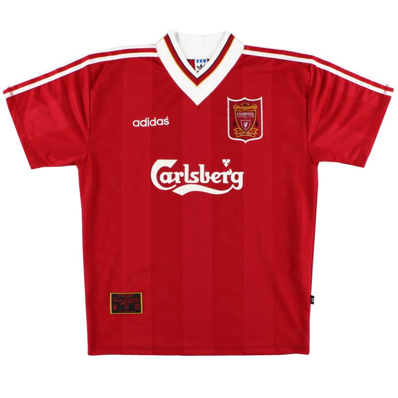 1995-96 Liverpool adidas Home Shirt L in vendita