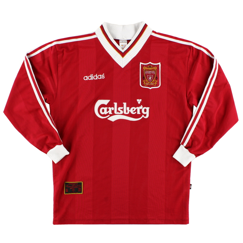 1995-96 Liverpool Home Shirt L/S XL