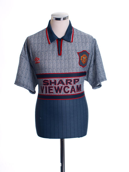 1995-96 Manchester United Away Shirt L.Boys