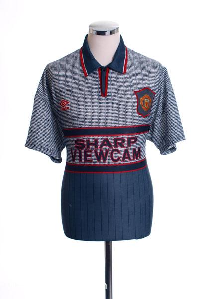 1995-96 Manchester United Away Shirt *Mint* L