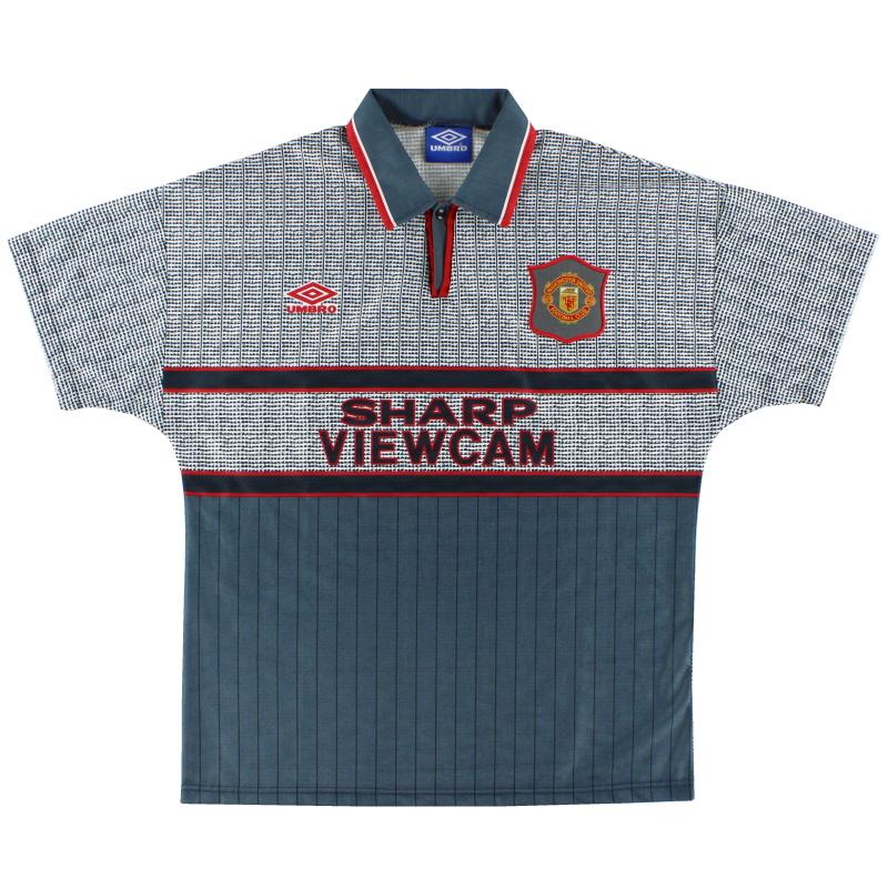 1995-96 Manchester United Away Shirt L