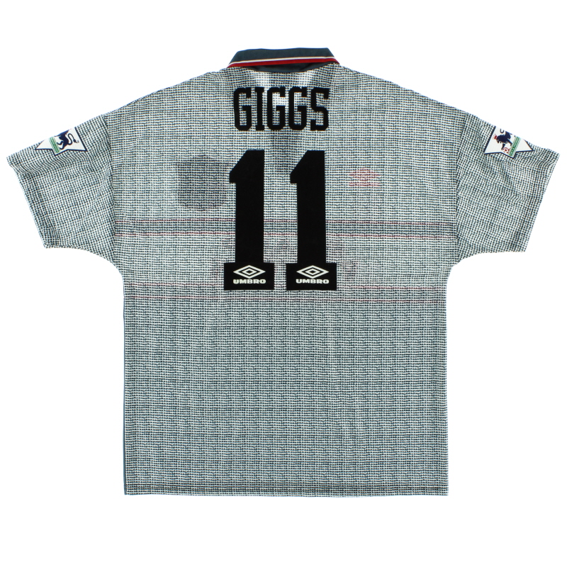1995-96 Manchester United Away Shirt Giggs #11 *Mint* L