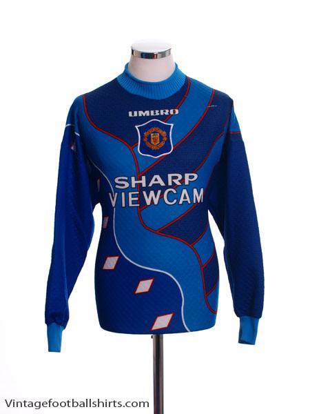 1995-96 Manchester United Goalkeeper Shirt L.Boys