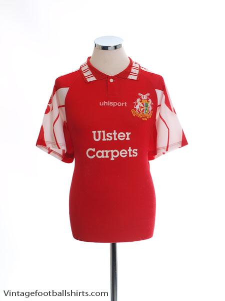 1995-96 Portadown Home Shirt L