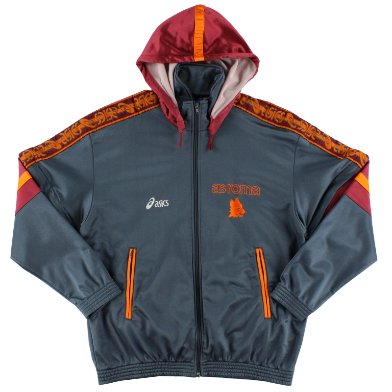 1995-96 Roma Asics Hooded Track Jacket XXL