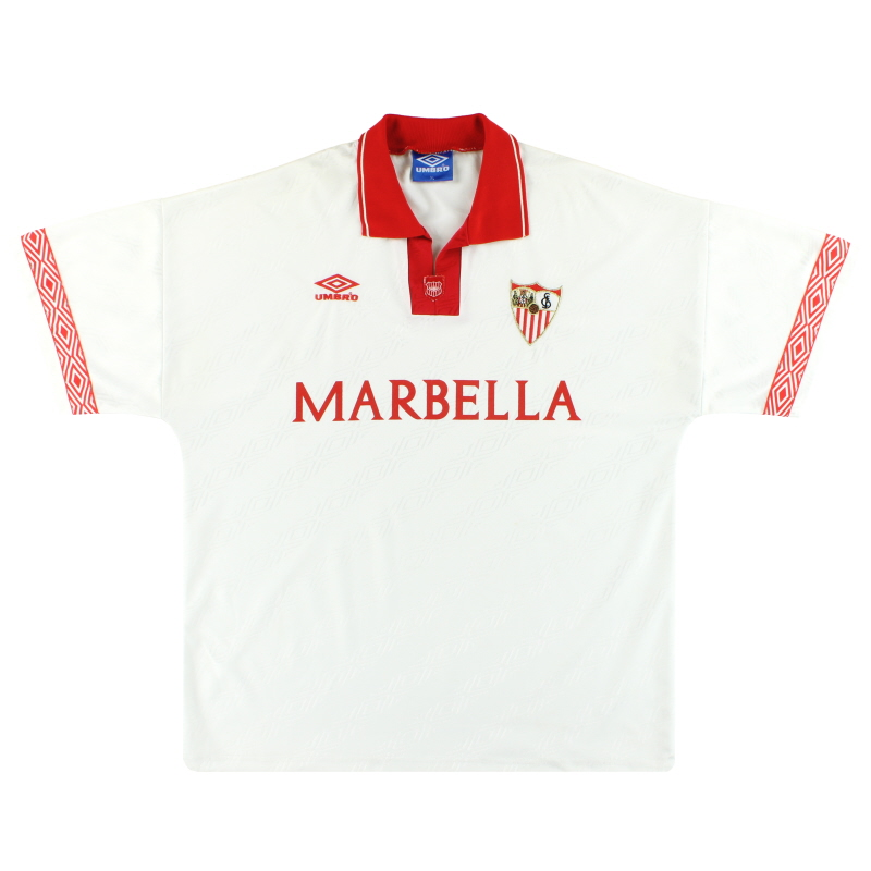 1995-96 Sevilla Umbro Home Shirt *Mint* XL