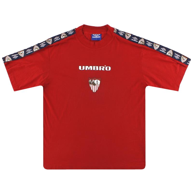 1995-96 Sevilla Umbro Training Shirt S