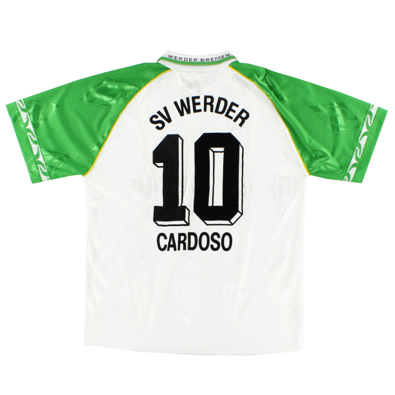1995-96 Werder Bremen Home Shirt Cardoso #10 XL