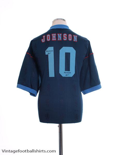 1995-97 Aston Villa Away Shirt Johnson #10 XL