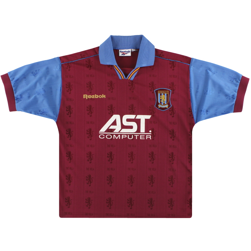 1995-97 Aston Villa Reebok Home Shirt L