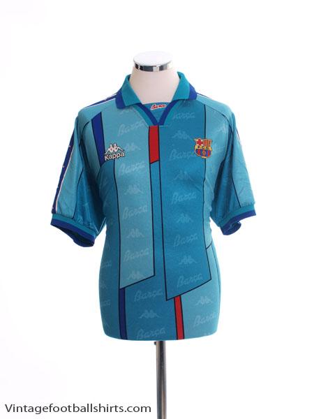 1995-97 Barcelona Away Shirt #9 XL