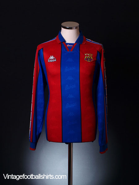 1995-97 Barcelona Home Shirt L/S XL