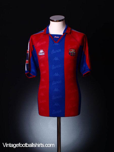 1995-97 Barcelona Home Shirt L