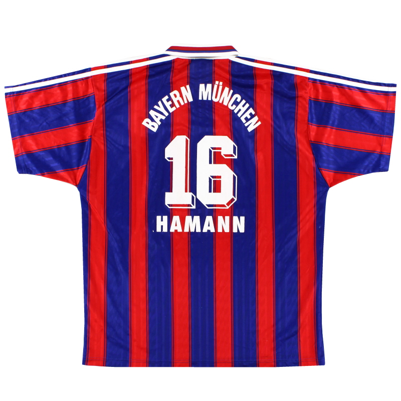1995-97 Bayern Munich Home Shirt Hamann #16 XL