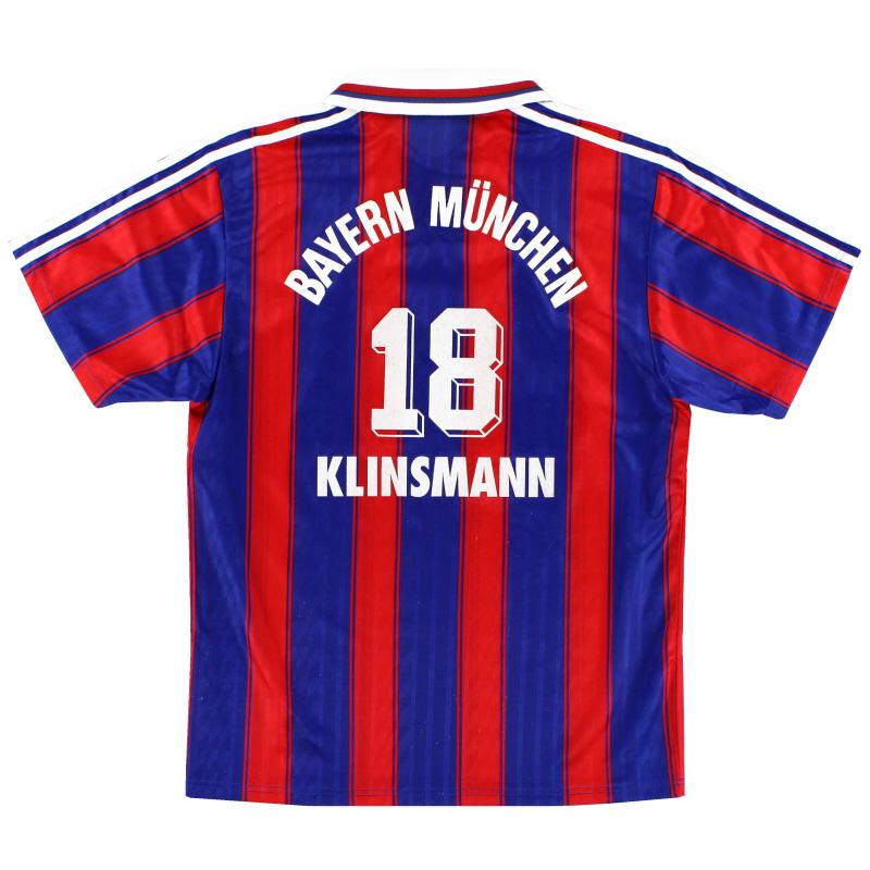 1995-97 Bayern Munich Home Shirt Klinsmann #18 M