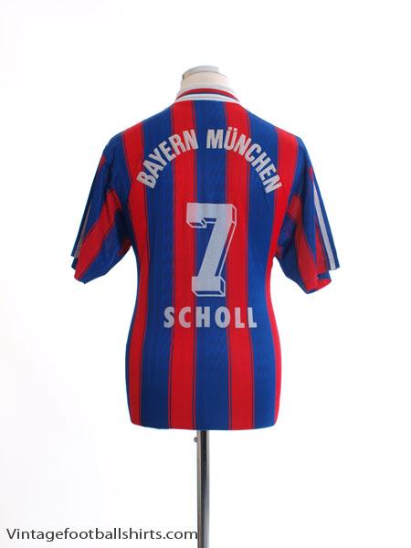 1995-97 Bayern Munich Home Shirt Scholl #7 M