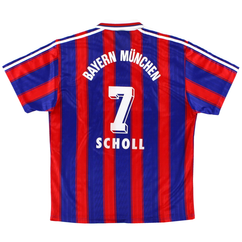 1995-97 Bayern Munich Home Shirt Scholl #7 L