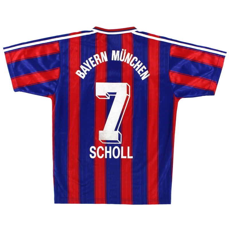 1995-97 Bayern Munich Home Shirt Scholl #7 S
