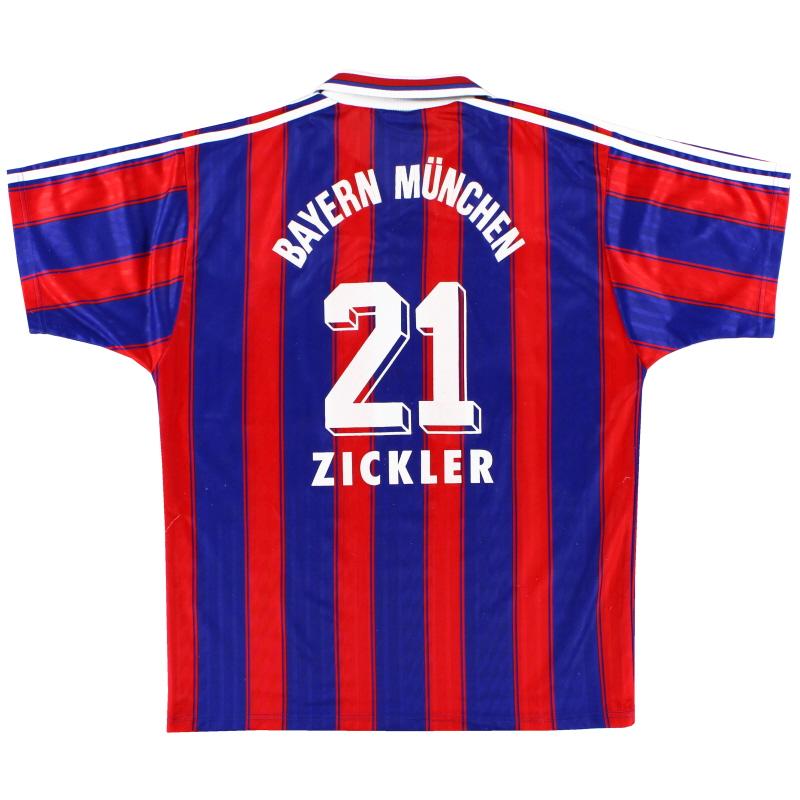 1995-97 Bayern Munich Home Shirt Zickler #21 L