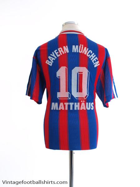 1995-97 Bayern Munich Home Shirt Matthaus #10 M