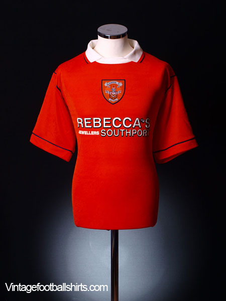 1995-97 Blackpool Player Home Shirt #16 *As New* L