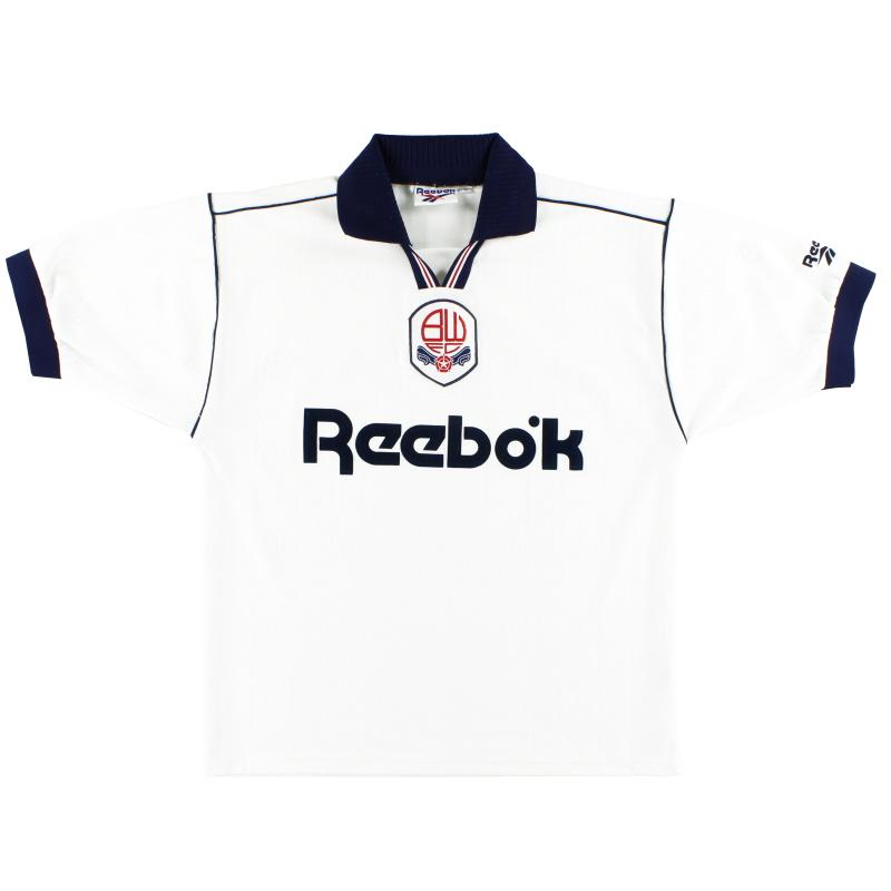 1995-97 Bolton Reebok Home Shirt *Mint* M