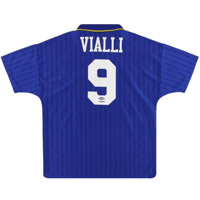 1995-97 Chelsea Umbro Home Shirt Vialli #9 M