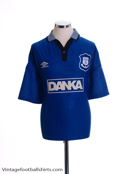 1995-97 Everton Home Shirt M