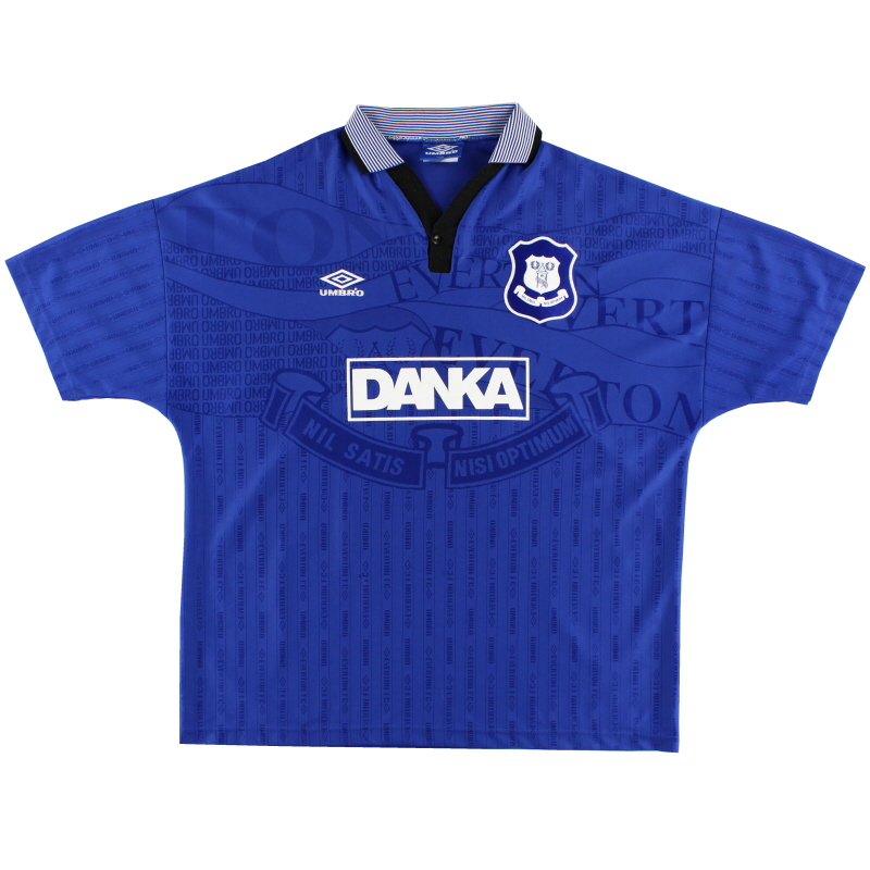 1995-97 Everton Umbro Home Shirt L