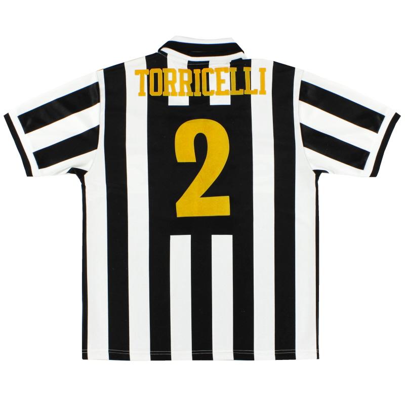 1995-97 Juventus Home Shirt Torricelli #2 M