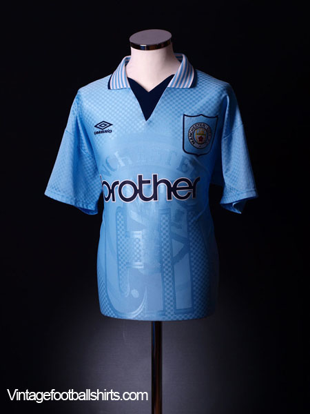 1995-97 Manchester City Home Shirt M
