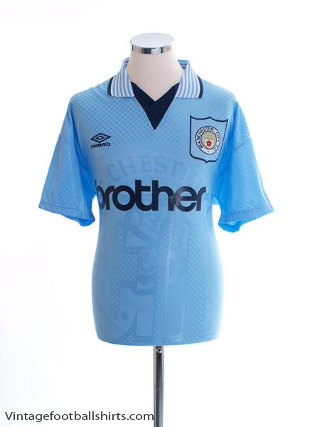 1995-97 Manchester City Home Shirt L