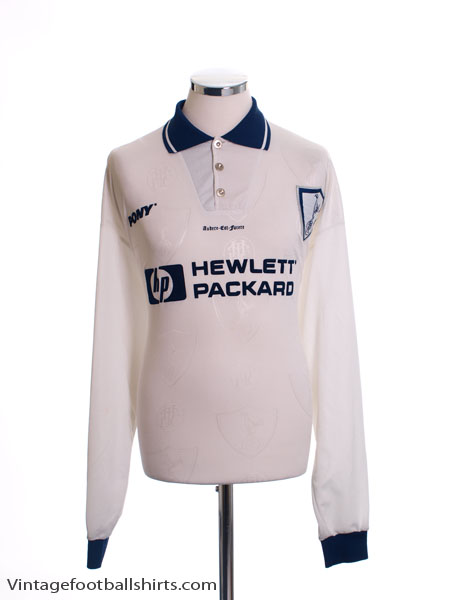 1995-97 Tottenham Home Shirt L/S XL