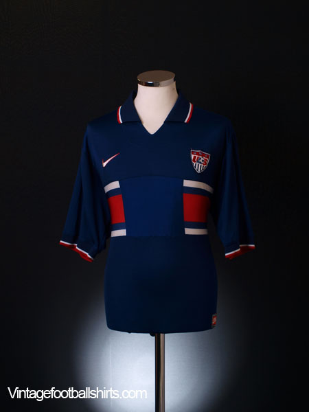 1995-97 USA Away Shirt Player Issue M