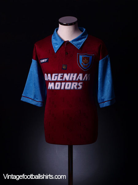 1995-97 West Ham Centenary Home Shirt S