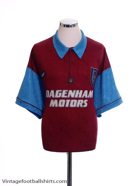 1995-97 West Ham Home Shirt XL