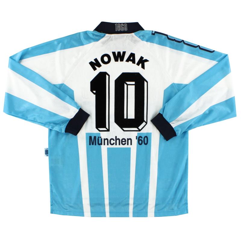 1996-97 1860 Munich Home Shirt Nowak #10 L/S *Mint* XL