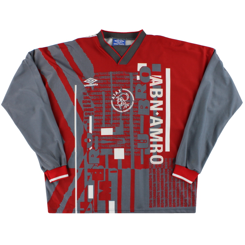 1996-97 Ajax Umbro Player Issue Training Shirt L/S XL