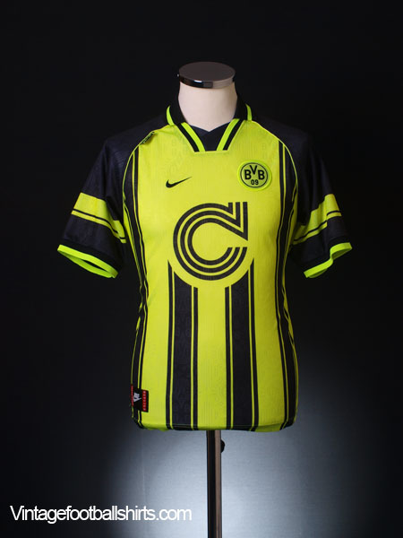 1996-97 Borussia Dortmund European Home Shirt XL.Boys