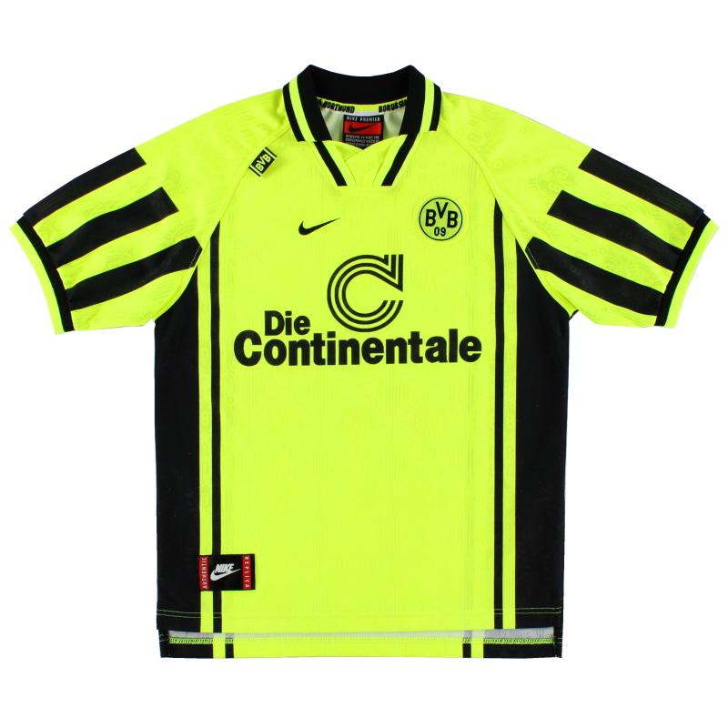 1996-97 Borussia Dortmund Nike Home Shirt L.Boys