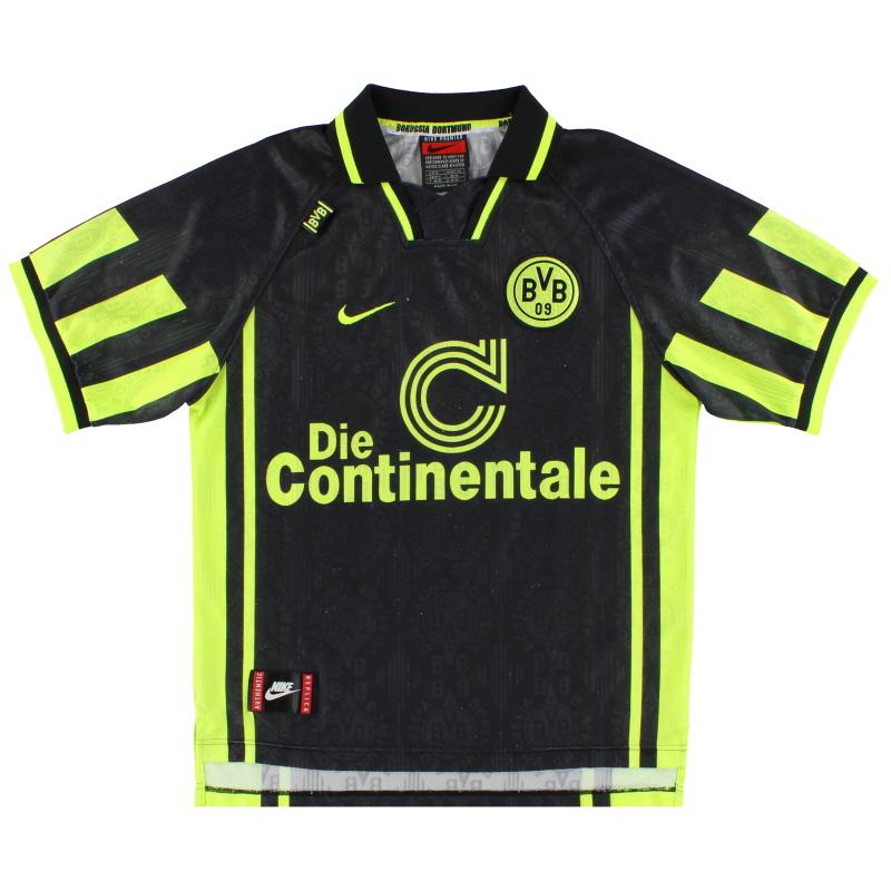 1996-97 Borussia Dortmund Nike Away Shirt Chapuisat #9 M