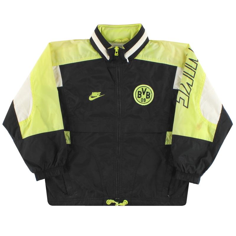 1996-97 Dortmund Nike Hooded Rain Jacket S.Boys